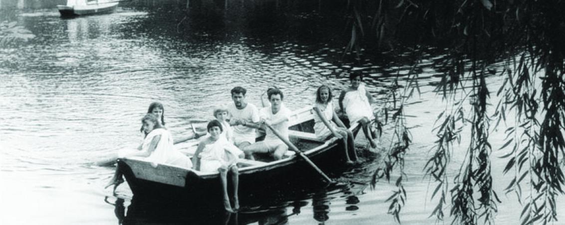 Promenade en barque sur le lac. Non daté, Prêt de Madame Sanz-Allen
