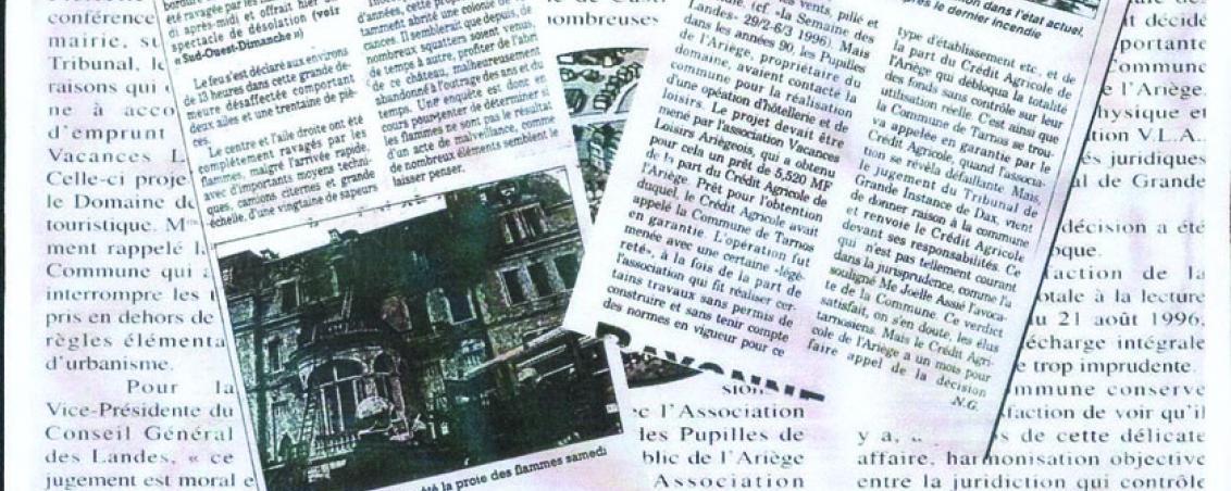 Articles de presse sur la situation de Castillon dans les années 1990. Fonds documentaires de la Ville de Tarnos