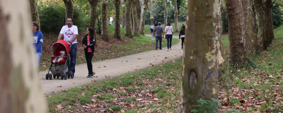 Les allées du parc réhabilitées en espace de promenade. 2015, Ville de Tarnos