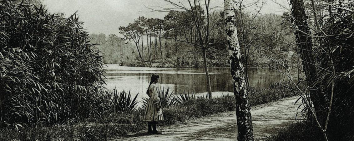 Carte postale représentant le lac de Castillon. 1926, Ville de Tarnos