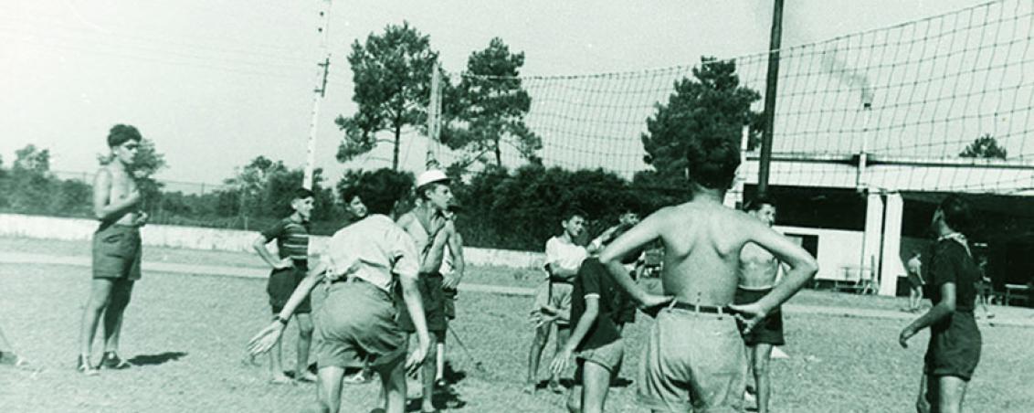 Les sports collectifs sont à l'honneur, ici le volley-ball