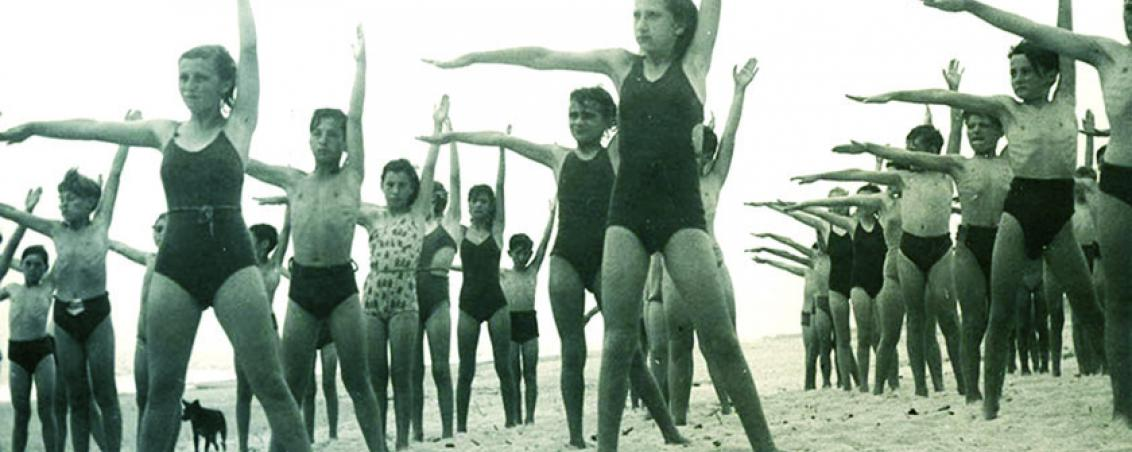 Même sur la plage, le sport reste présent !