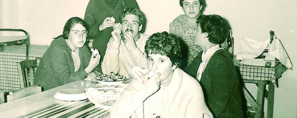 Le « 5ème repas » était réservé aux moniteurs. 1961