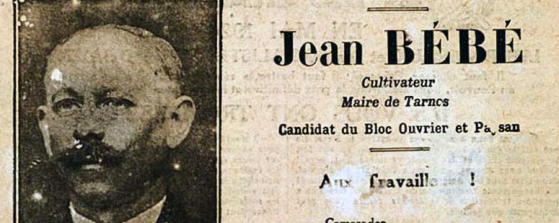 Jean Bébé - Elections législatives de 1928