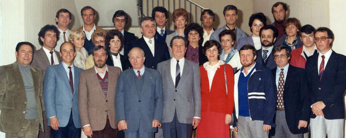 Le Conseil municipal de Tarnos en 1983, autour de Jean-André « André » Maye