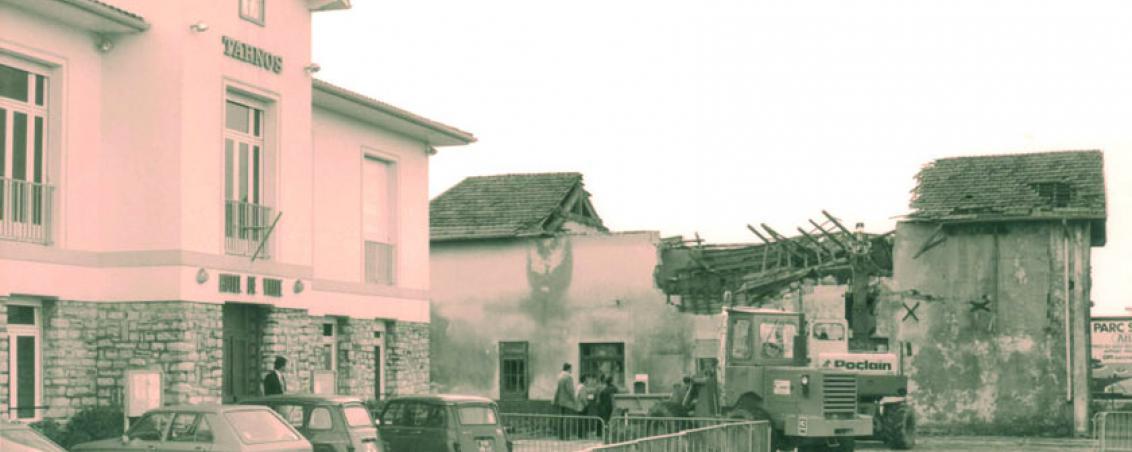 Les travaux de démolition entrepris en 1982, Ville de Tarnos