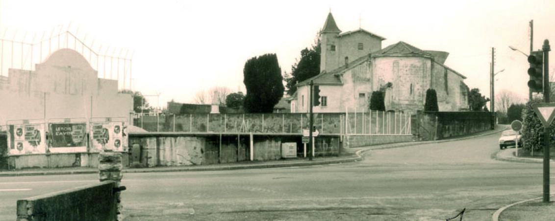 L'église Saint-Vincent au début du XXème siècle, Ville de Tarnos