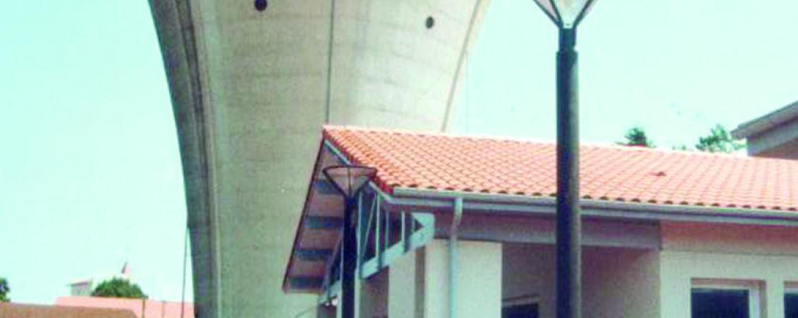 Le château avant la réalisation de la fresque en 1998, Ville de Tarnos
