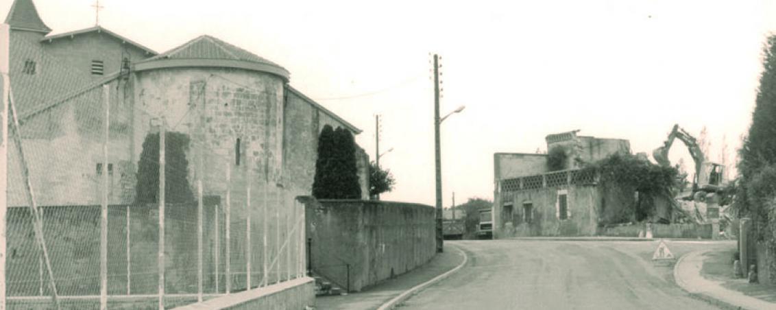 Les travaux de démolition de la propriété, milieu années 1980, Ville de Tarnos