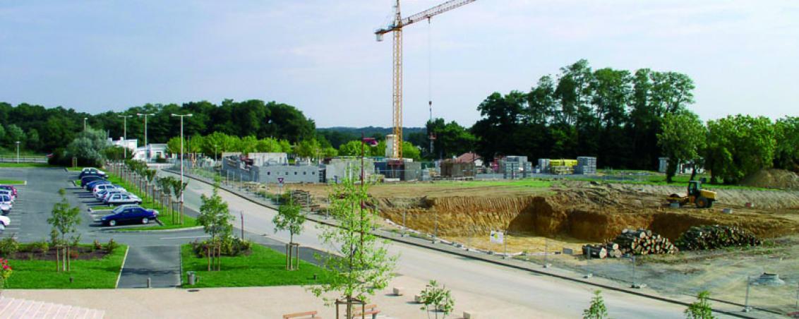 Les travaux de construction de l'école Poueymidou en 2005, Ville de Tarnos