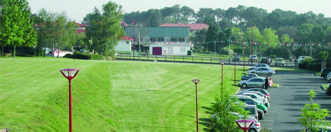 Le site de la future médiathèque en 2005, Ville de Tarnos