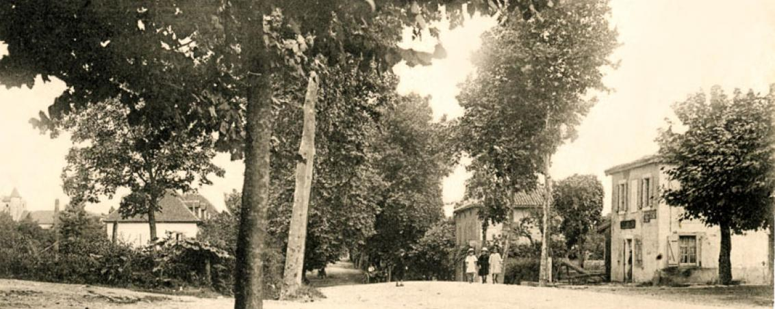 La RD810 direction Ondres - Bordeaux au début du XXème siècle, Ville de Tarnos