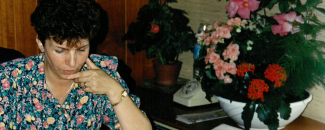 Pierrette Fontenas en 1991. Ville de Tarnos
