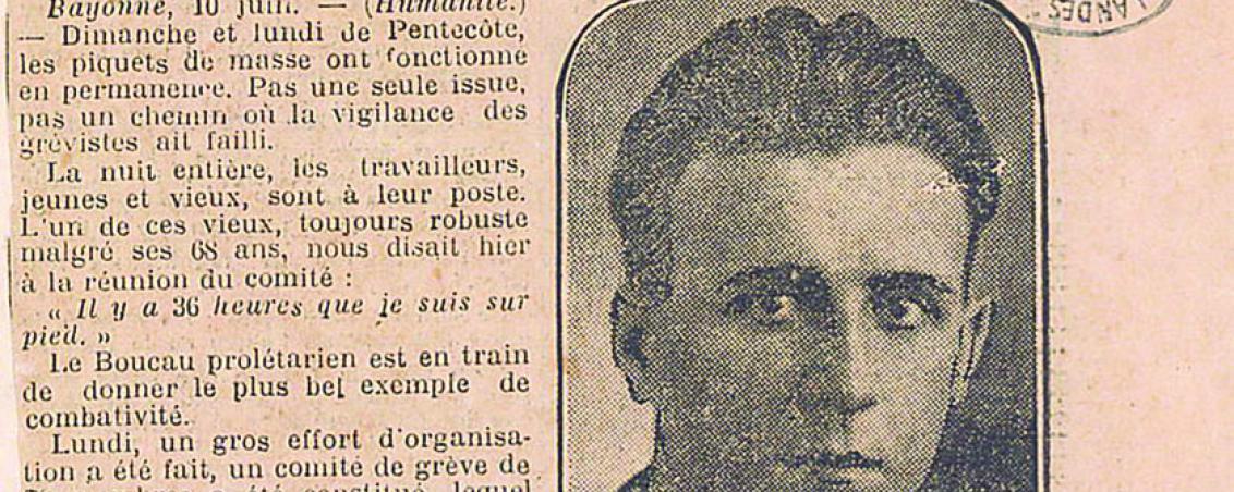 Article du journal L'Humanité. 1930