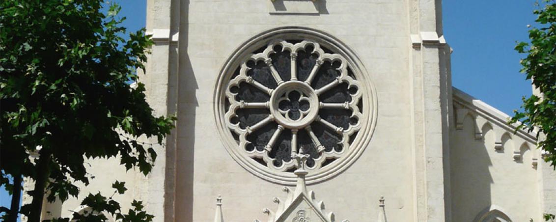 Vue de face de l'Église, après restauration. 2008, Ville de Tarnos