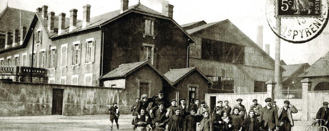 Apprentis ouvriers des Forges de l'Adour. 1913, Ville de Tarnos