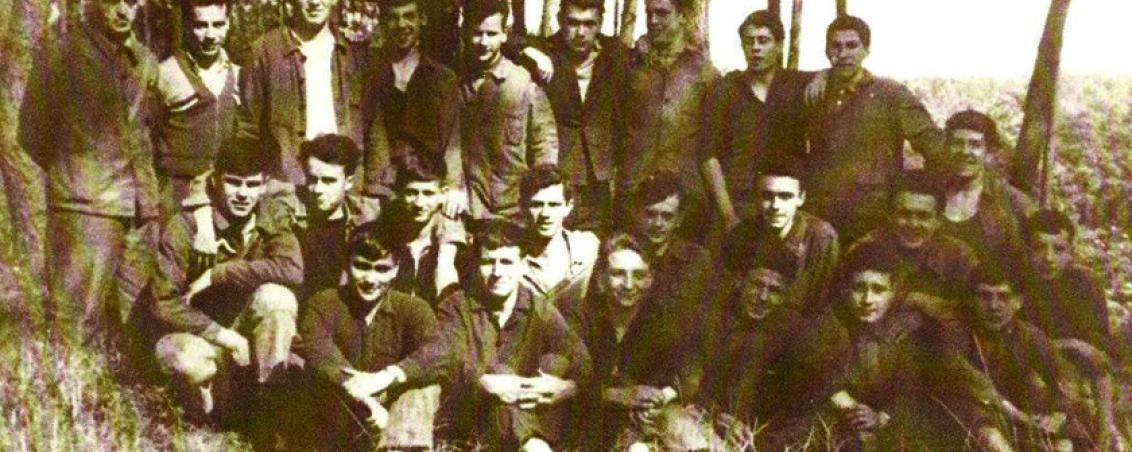 Dernier groupe d'apprentis de l'Usine des Forges. 1961, collection personnelle de Michel Sanchez