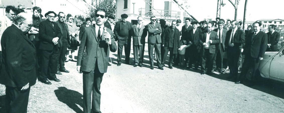 Inauguration de l'Avenue Lénine. 1970, Ville de Tarnos
