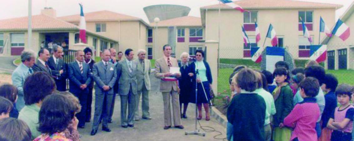 Inauguration de l'école Jean Mouchet. 1978, Ville de Tarnos