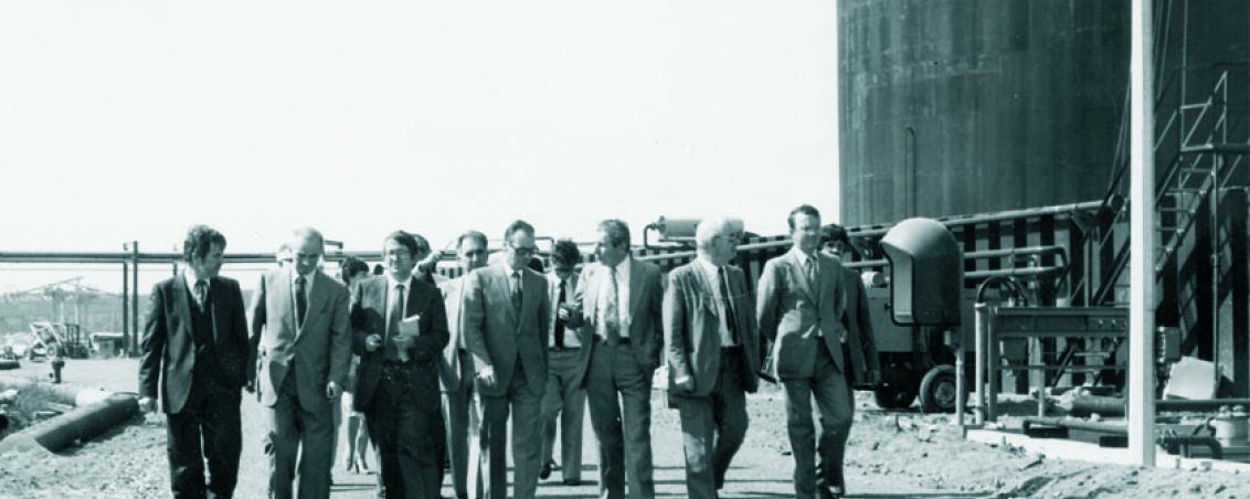 Visite du site de Sotrasol. 1981, Ville de Tarnos