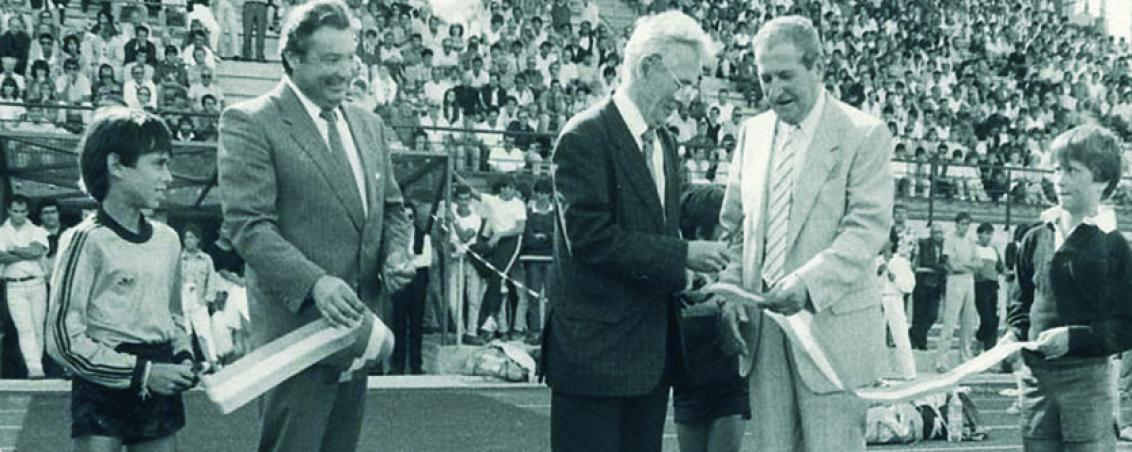 Inauguration du Parc des Sports. 1986, Ville de Tarnos