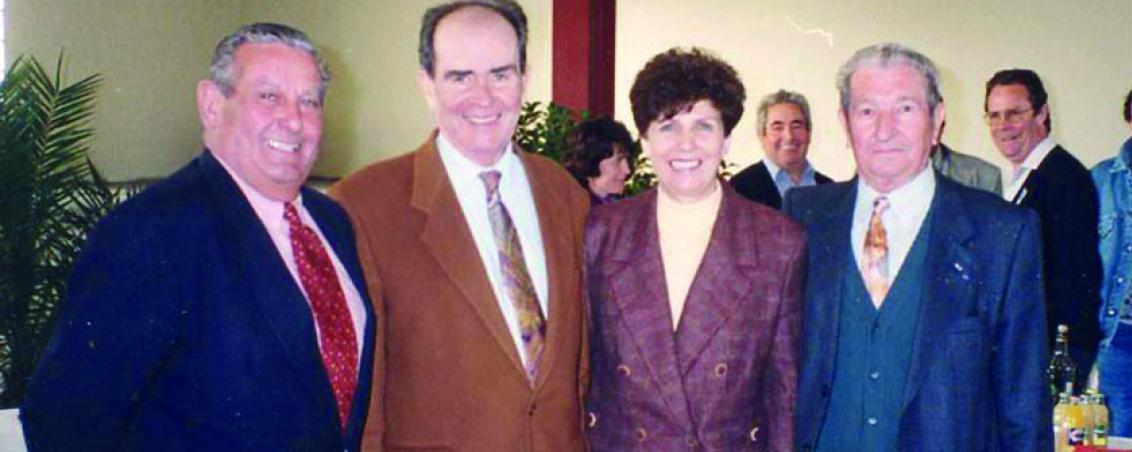 André Maye reçoit George Marchais à Tarnos. 1995, Ville de Tarnos
