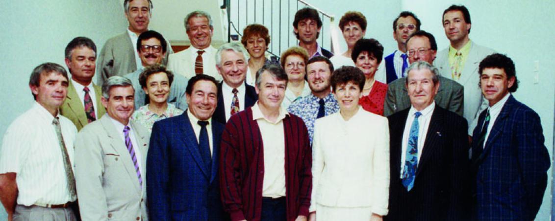 Conseil Municipal de 1991. Ville de Tarnos Conseil Municipal de 1991. Ville de Tarnos