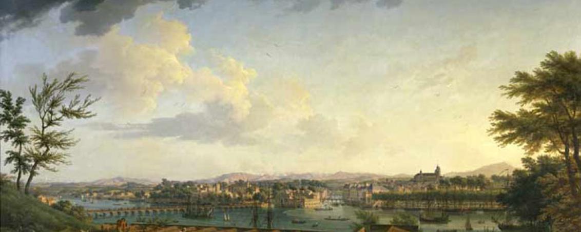 Vue du port de Bayonne depuis la citadelle, Joseph Vernet, 1752 - 1762