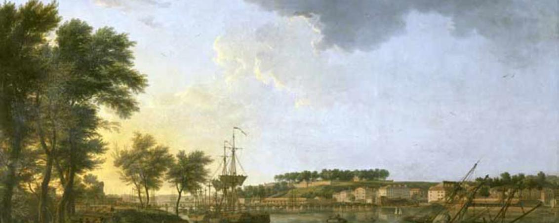 Vue du port de Bayonne depuis les Allées Boufflers, Joseph Vernet, 1752 - 1762