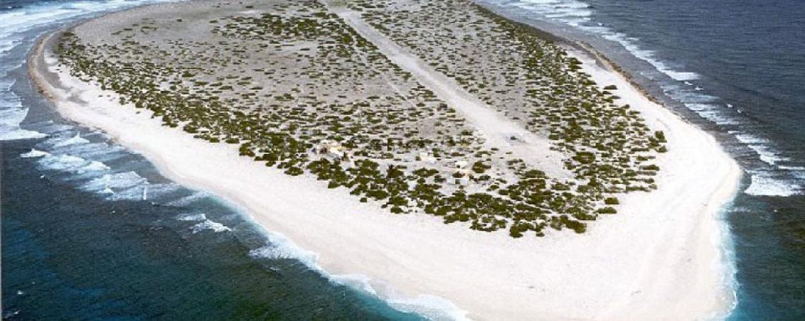 Vue aérienne de l'Île de Sable, Unesco