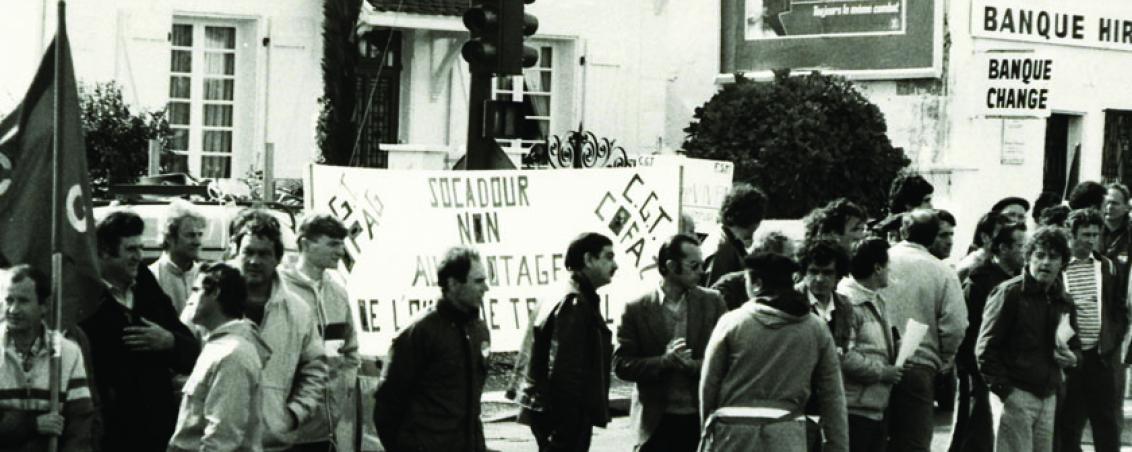 Rassemblement contre la fermeture de SOCADOUR. Sans date, Ville de Tarnos