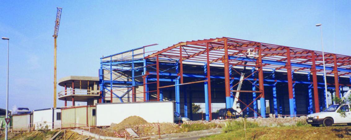 Construction de la chaudronnerie de la Rhune. 1994, Ville de Tarnos