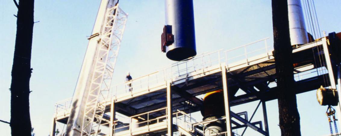 Construction du site d'ADA. 1995-1996, Ville de Tarnos