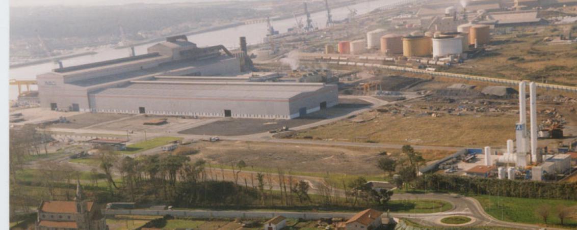 Vue aérienne du site d'implantation d'ADA. 1996, Ville de Tarnos