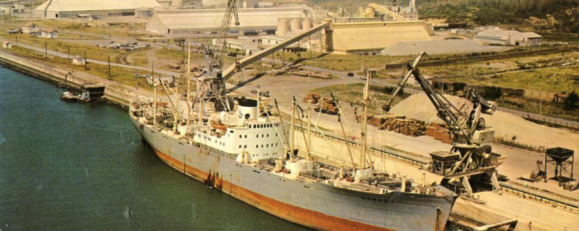 Vue du site de SOCADOUR et de la SATEC. 1968, Ville de Tarnos