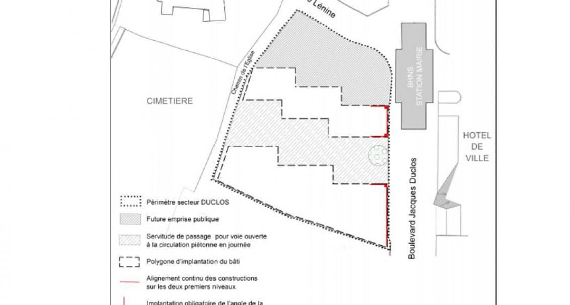 Schéma de composition du secteur Jacques Duclos